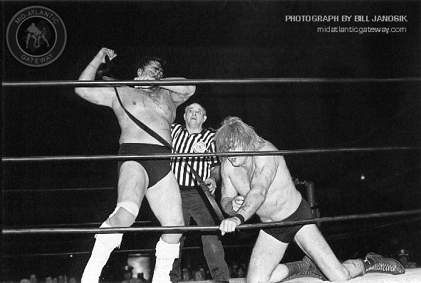 There Were No Two Tougher Individuals Than Wahoo McDaniel And Johnny  Valentine. This Classic Photograph By Bill Janosik Shows The Two Locked In  Combat In An ...