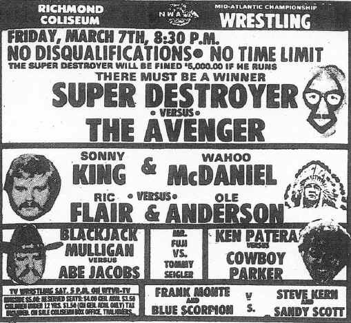 Mid Atlantic Wrestling Gateway March 1975