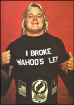 Greg Valentine: (laughs) Yeah, That Was Back In 1977. I Broke His Leg In  Raleigh .