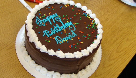L Bob Caudle And David Chappell Prepare To Cut Davids Birthday Cake R Diana